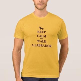 Keep Calm & Walk a Labrador fun humour men t-shirt