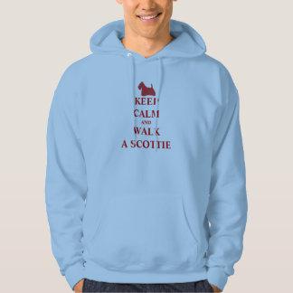 Keep Calm & Walk a Scottie humour men sweatshirt