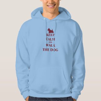 Keep Calm & Walk the Dog fun humour men sweatshirt