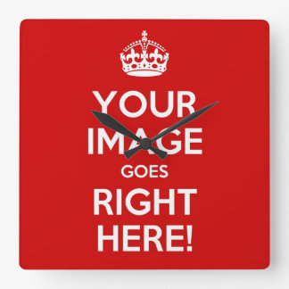 Keep Calm wall clock* best with square images Clocks