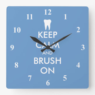 Keep Calm wall clock for dentist practice