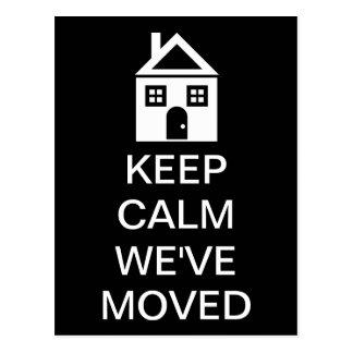 Keep Calm We ve Moved Postcards