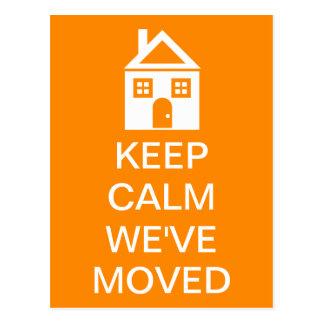 Keep Calm We ve Moved Postcard