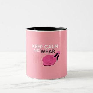 Keep Calm Wear Pink Mugs