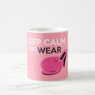 Keep Calm Wear Pink Coffee Mugs