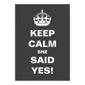 Keep Calm Wedding Card