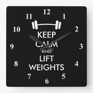 Keep Calm weightlifting wall clock for fitness gym