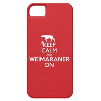 KEEP CALM WEIMARANER iPhone 5 CASES