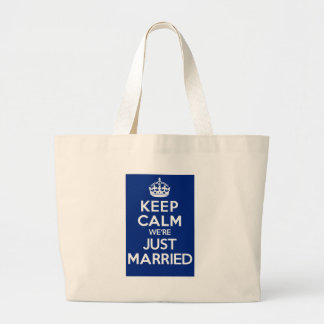KEEP CALM we're JUST MARRIED (Blue) Bag