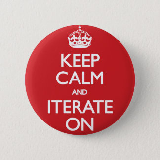 Keep calm wild duck iterate on 6 cm round badge