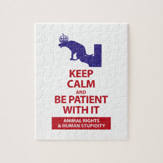 Keep Calm with Human Stupidity Jigsaw Puzzle