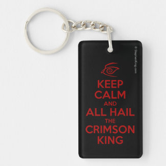 Keep Calm with the Crimson King Key Ring