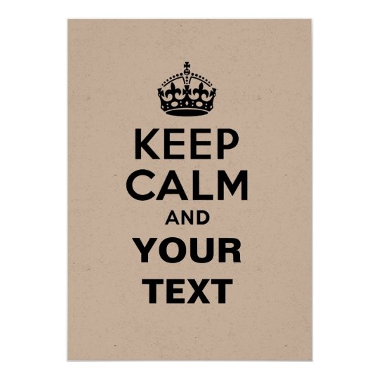 Keep Calm with Your Text Card