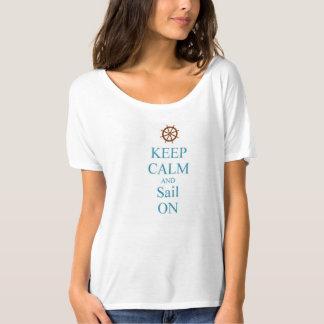 KEEP CALM WOMENS NAUTICAL SAIL T-SHIRT