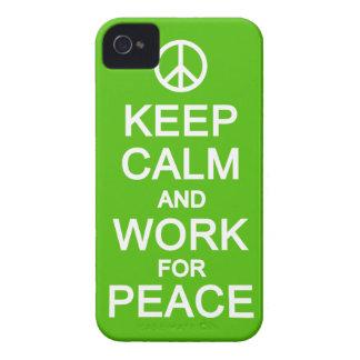 Keep Calm & Work For Peace Blackberry Bold case