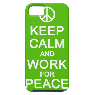 Keep Calm & Work For Peace iPhone 5 Case-Mate