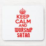 Keep Calm worship Satan Mousepad