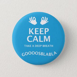 Keep Calm Yoga Button