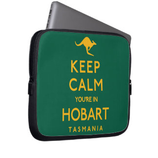 Keep Calm You're in Hobart! Laptop Computer Sleeve