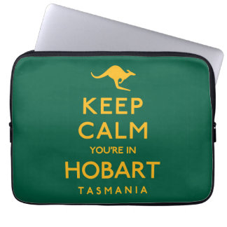 Keep Calm You're in Hobart! Laptop Computer Sleeves