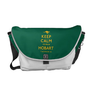 Keep Calm You're in Hobart! Messenger Bags