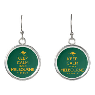 Keep Calm You're in Melbourne! Earrings
