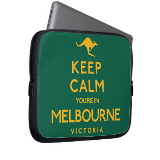 Keep Calm You're in Melbourne! Laptop Computer Sleeves