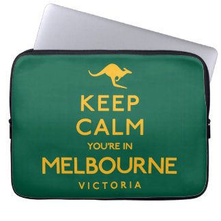 Keep Calm You're in Melbourne! Laptop Sleeves