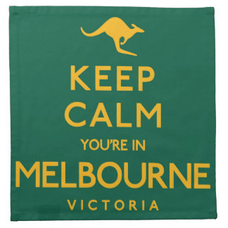 Keep Calm You're in Melbourne! Napkin