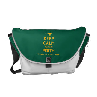Keep Calm You're in Perth! Courier Bags
