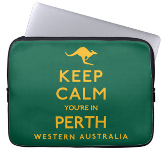 Keep Calm You're in Perth! Laptop Computer Sleeves