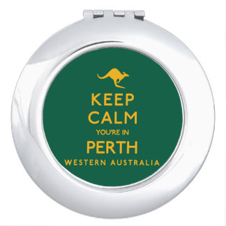 Keep Calm You're in Perth! Makeup Mirrors
