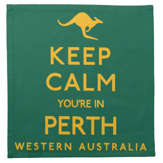 Keep Calm You're in Perth! Napkin