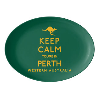 Keep Calm You're in Perth! Porcelain Serving Platter