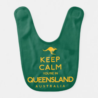 Keep Calm You're in Queensland! Bib