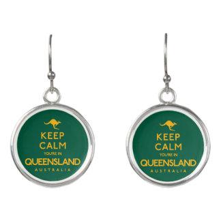 Keep Calm You're in Queensland! Earrings