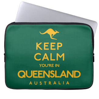 Keep Calm You're in Queensland! Laptop Sleeve