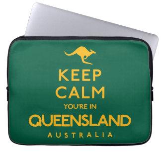 Keep Calm You're in Queensland! Laptop Sleeves