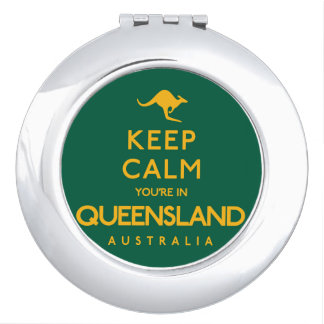 Keep Calm You're in Queensland! Makeup Mirrors