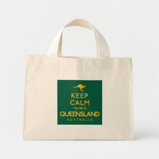 Keep Calm You're in Queensland! Mini Tote Bag