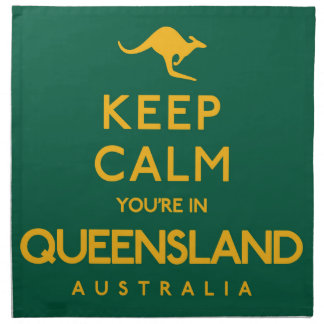 Keep Calm You're in Queensland! Napkin