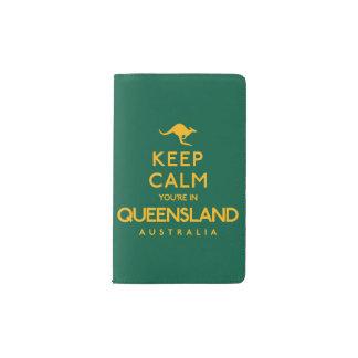 Keep Calm You're in Queensland! Pocket Moleskine Notebook