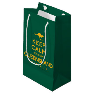 Keep Calm You're in Queensland! Small Gift Bag