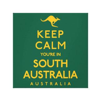 Keep Calm You're in South Australia! Canvas Print