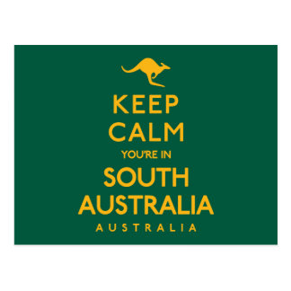 Keep Calm You're in South Australia! Postcard