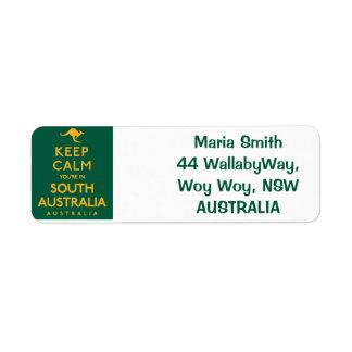 Keep Calm You're in South Australia! Return Address Label