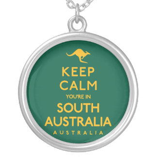 Keep Calm You're in South Australia! Silver Plated Necklace