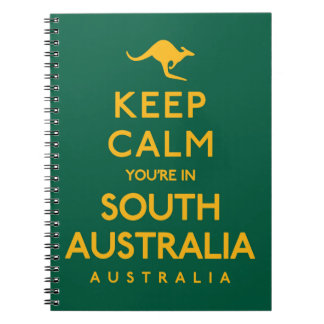 Keep Calm You're in South Australia! Spiral Notebook