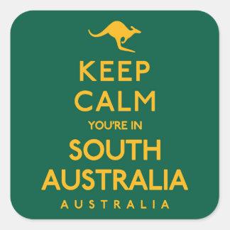 Keep Calm You're in South Australia! Square Sticker