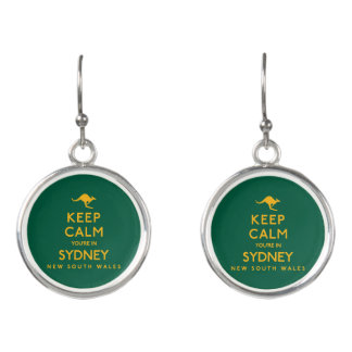 Keep Calm You're in Sydney! Earrings